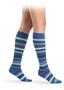 Sigvaris microfiber mini stripes Jeans steunkousen