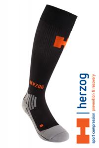 Herzog Active Sport Compressiekous zwart