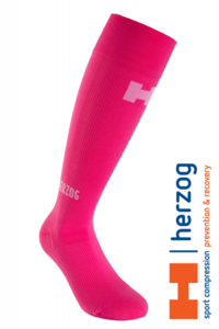 Herzog Pro Sport Compressiekousen roze