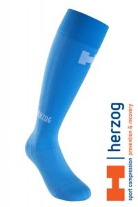 Herzog Pro Sport Compressiekousen lichtblauw