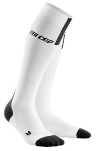 CEP Pro Run 3.0 White/DarkGrey sportcompressiekousen