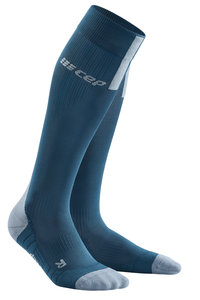 CEP Pro Run 3.0 Blue/Grey sportcompressiekousen