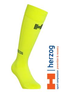 Herzog Pro Sport Compressiekousen geel
