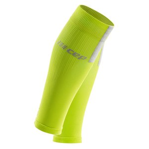 CEP Calf Sleeves 3.0 Compressietubes lime/grey